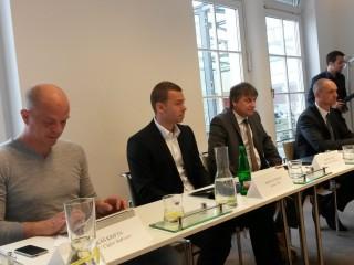 Zleva - Lukáš Krifta, Michal Rybovič, Martin Cígler a Petr Franc