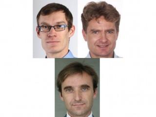 Karel Holub (vlevo nahoře), Roman Volák (vpravo nahoře) a Dan Petřivalský