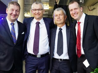 S kolegy z AT Computers. Zleva: Petr Vaněk, Martin Harazím, Aleš Kilnar a Martin Wanke