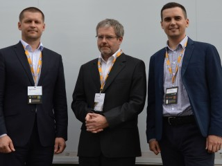 Zleva Martin Dvořák (SAP), Jan Coufalík (Sabris), Alexej Suharev (Cherkizovo Group)