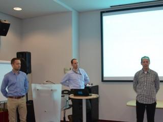 Zleva: Lukáš Rotter (Setos), Lukáš Křovák (Microsoft) a Jiří Bejšovec (Setos)