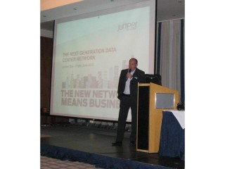 Přítomné uvítal Aleš Popelka, Business Development Manager Juniper Networks společnosti Arrow ECS