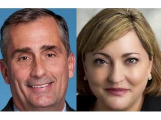 Brian Krzanich, generální ředitel a Renée Jamesová prezidentka společnosti Intel
