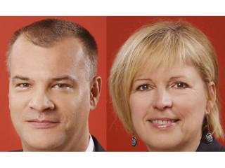 Jan Přerovský (obchodní ředitelm pro významné zákazníky a partnery) a Iva Herlesová (ředitelka pro rozvoj obchodu)