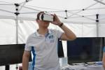 Virtuální realitu mohli návštěvníci okusit pomocí brýlí a Samsungu S6