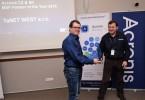 Vyhlášení nejlepších partnerů roku - zástupce společnosti TaNet West