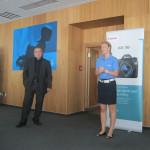 Vlevo Miloš Bejblík a vpravo Radka Palánová, manager marketingové a korporátní komunikace