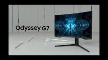 Embedded thumbnail for Zakřivený herní Samsung Odyssey G7 míří na pulty obchodů