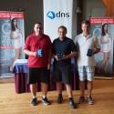 Zleva vítězové - Evžen Valtr (ICZ), Michal Fibiger (Trask solutions), Horymír Šíma (MHM)