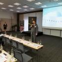Petr Janda, ředitel společnosti SkyVera, uvádí konferenci SkyVera Day