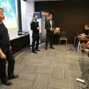 Vlevo Roman Fojtík (konzultant Cisco, Azlan) uprostřed Martin Doležel ( commercial sales manager, Cisco Systems) a vpravo Jaroslav Salva (ředitel divize Azlan)