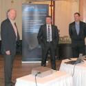 Zleva Jiří Línek (výkonný ředitel Gesto Communication), Markus Walcher (VP sales EMEA, Barracuda) a Jiří Blažek (produktový manažer Gesto Communication)