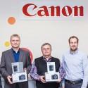 Slavnostní předání cen v sídle společnosti Canon CZ