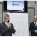 Vlevo Antonín Charvát (obchodní ředitel české organizační složky Eizo) a Minoru Kontani (prezident Eizo Europe)