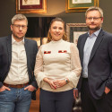 Komunikační tým Huawei - zleva Pavel Košek, Dina Mašínová a Jiří Janeček