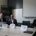 Zleva sedí Martin Peňáz, Sales Manager, Patrik Minks, AEC Sales Manager a Marek Svoboda, Manufacturing Marketing Manager ze společnosti Autodesk