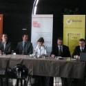 Zleva Ctibor Jappel (O2), Patrick Müller (Symantec), Monika Šimůnková (zmocněnkyně vlády pro lidská práva), Miroslav Antl (senátor ČR), Václav Mach (Microsoft)