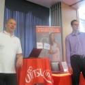 Generální ředitel Fujitsu Radek Sazama a Ivan Preisler, obchodní zástupce Fujitsu