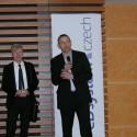 Uprostřed ředitel společnosti eD' system Czech Radim Galvánek, napravo Milan Hrabovský ze společnosti Microsoft