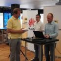 Vlevo Jiří Karhánek (SWS) a vpravo Lukáš Jírový (Microsoft)